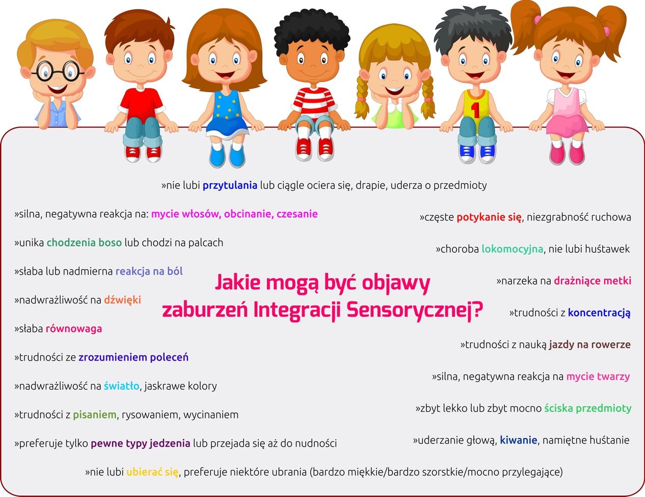 Znalezione obrazy dla zapytania zaburzenia integracji sensorycznej